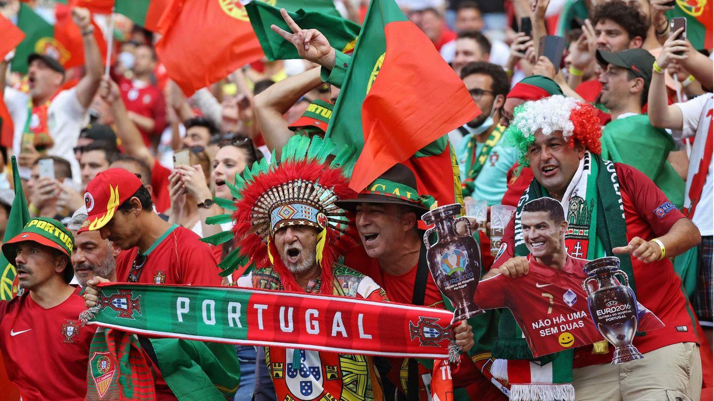 Unterden 67.000 Zuschauern befanden sich auch zahlreiche portugiesische Fans