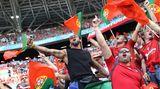 Die angereisten portugiesischen Anhänger genossen die Atmosphäre