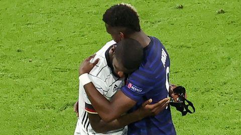 Herzliche Szene: Paul Pogba tröstet Antonio Rüdiger nach dem Spiel