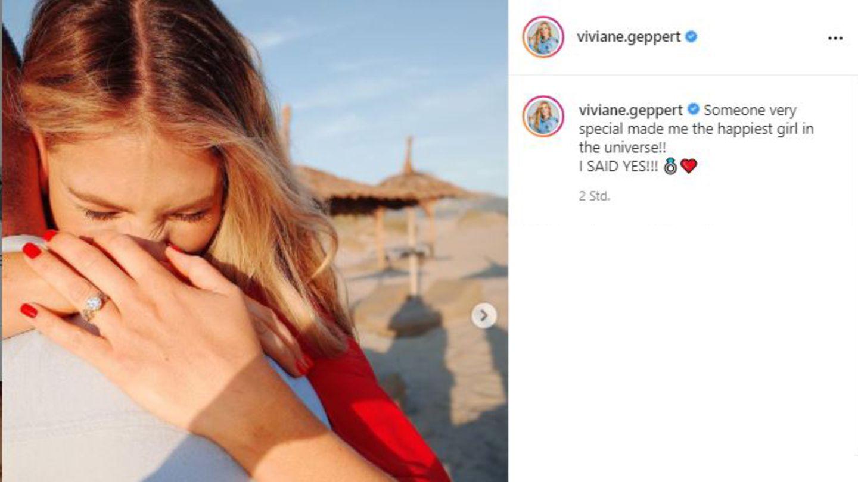 Vip-News: Viviane Geppert verkündet Verlobung auf Instagram