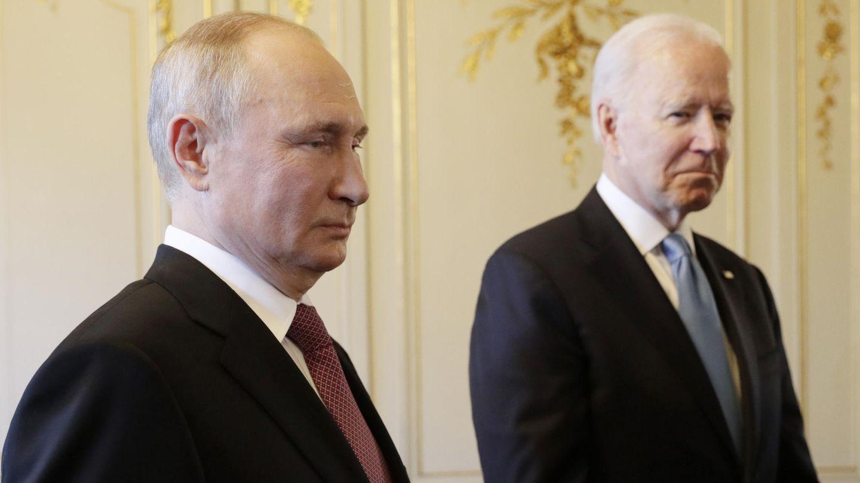 Wladimir Putin und Joe Beiden bei ihrem Treffen in Genf
