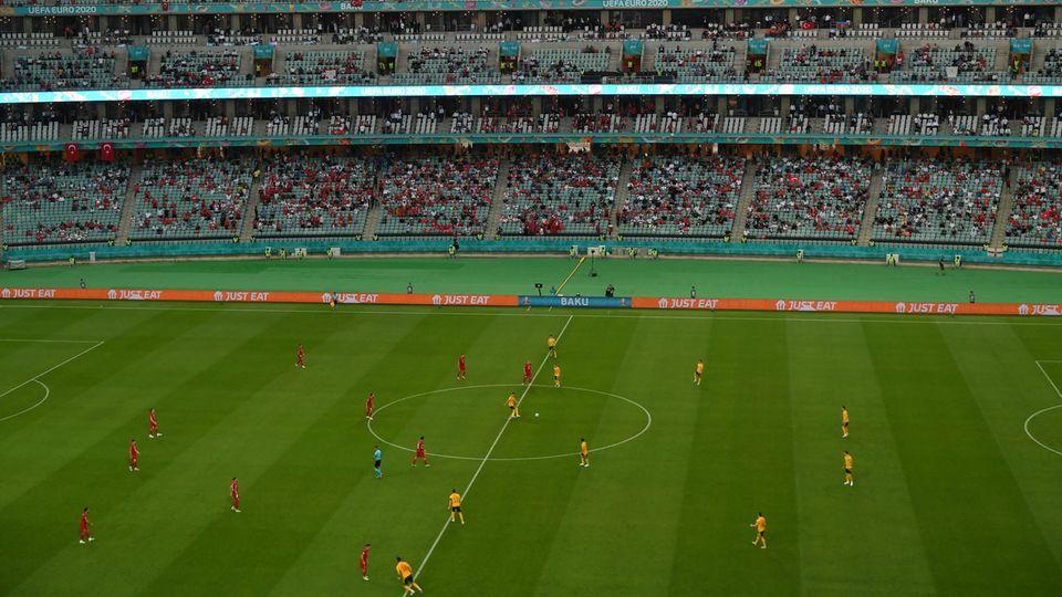 EM 2021: Blick ins Nationalstadion von Baku