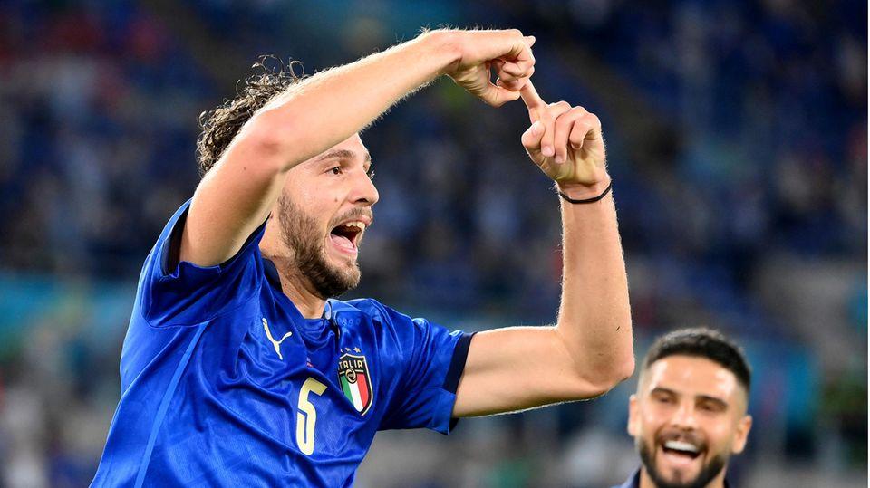 Jubel von Italien nach dem 30-EM-Sieg gegen die Schweiz