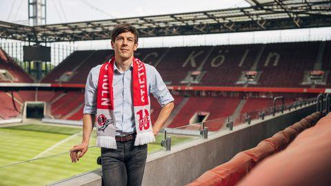 Carsten Wettich im Stadion des 1. FC Köln