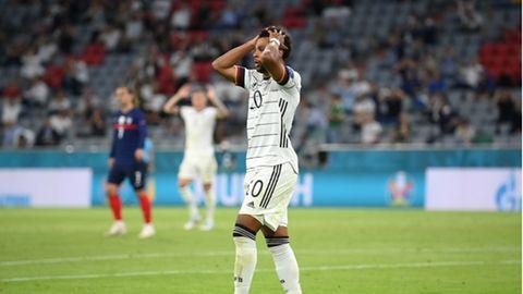 Serge Gnabry beim ersten EM-Spiel der Nationalmannschaft gegen Frankreich