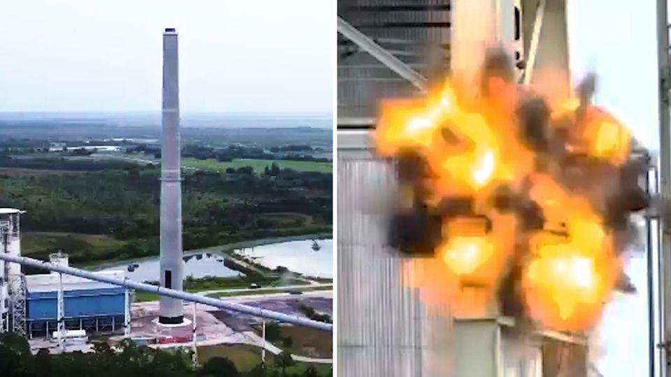 Sprengung eines Kohlekraftwerks in Florida