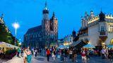 Corona-Regeln in Polen. Im Bild zu sehen ist die Altstadt von Krakau