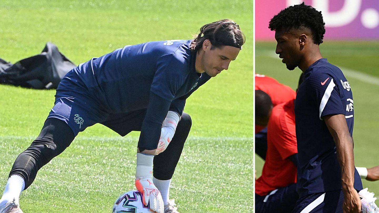 Fußball-EM: Yann Sommer und Kingsley Coman beim Training