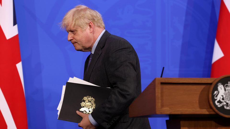 Im Februar galt Premierminister Boris Johnson noch als Mann der Stunde.Vier Monatespäter ist der Vorsprung des britischen Impfwunders fast verspielt.