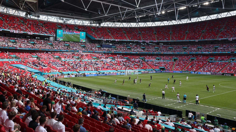 Das Wembleystadion steht als Spielort wegen der aufgeschobenen Corona-Lockungen in Großbritannien möglicherweise auf der Kippe