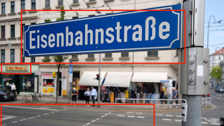 """Der Hinweis auf in der Straße verlaufende Schienen hätte im Notfall auch noch helfen können, um sich dem Ort in einem zweiten Schritt genauer zu nähern. Hier reichte es aber aus, nach """"Eisenbahnstraße"""" in Kombination mit """"Mr. Wok"""" zu suchen, um auf die Lösung Leipzig zu kommen."""