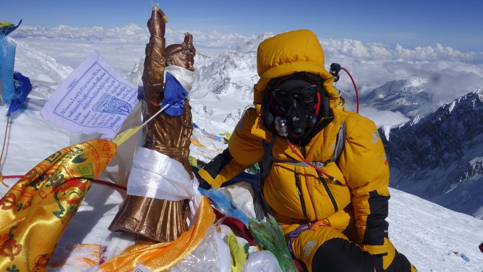 """Wenn ich oben bin, bleibe ich ganz ruhig."" Bergsteigerin Tsang Yin-Hung, 44 Jahre alt, Lehrerin aus Hongkong,hat einen neuen Rekord am Mount Everest aufgestellt."