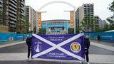 Schottische Fans vor Wembley