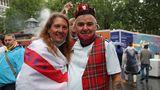 Englische und schottische Farben vereint