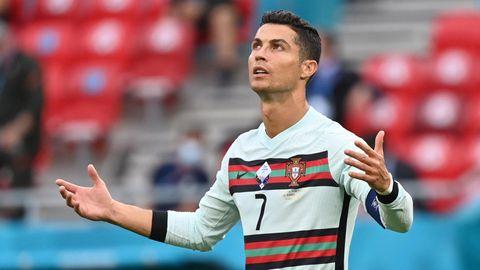 Auf dem Weg in die Münchner Allianz Arena wurde Cristiano Ronaldo von einem Security-Mitarbeiter nicht erkannt