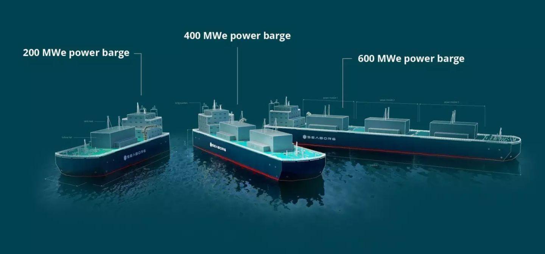 Die modularen Reaktoren sollen auf einfache Lastkähne montiert werden.