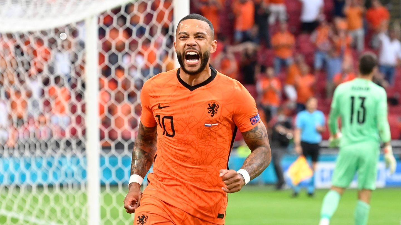 Memphis Depay Netherlands Austria Euro 2020