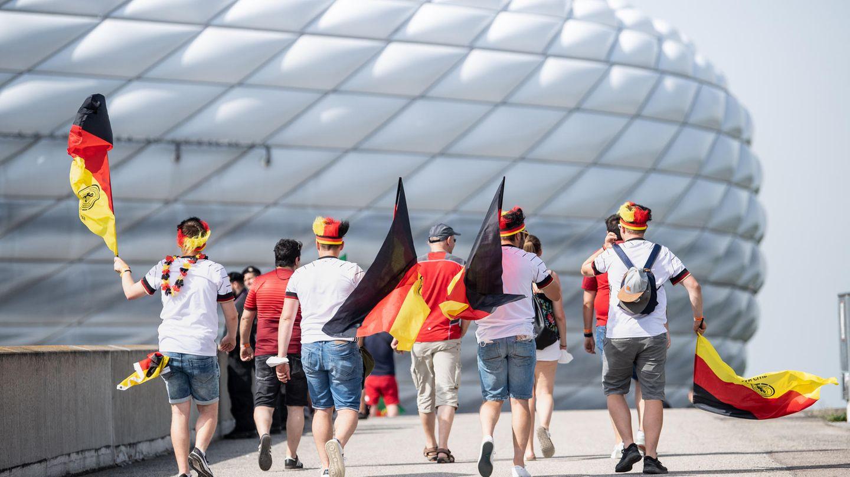 Deutsche Fans in München: Zu häufig ohne Maske unterwegs?