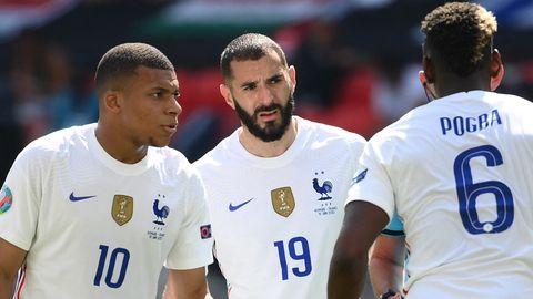 Karim Benzema Kylian Mbappe France 2021