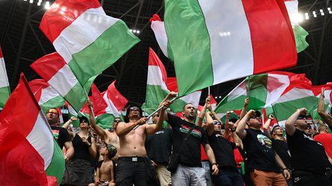 Ungarische Fans beim Spiel gegen Frankreich