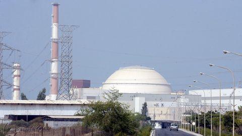 Das iranische Atomkraftwerk Buschehr im Süden in der Provinz Buschehr am Persischen Golf
