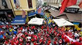 Verteilte Feiergruppen aus Österreich und der Ukraine
