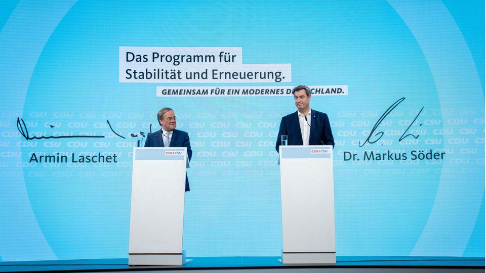 Armin Laschet (l) und Markus Söder