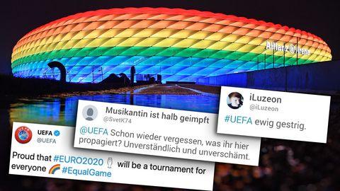 Nach Verbot von Regenbogen-Beleuchtung: Wirklich so proud? Wie ein alter Tweet der Uefa um die Ohren fliegt
