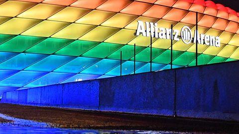 Uefa verbietet beim Spiel Deutschland gegen Ungarn die Beleuchtung der Allianz Arena in Regenbogenfarben
