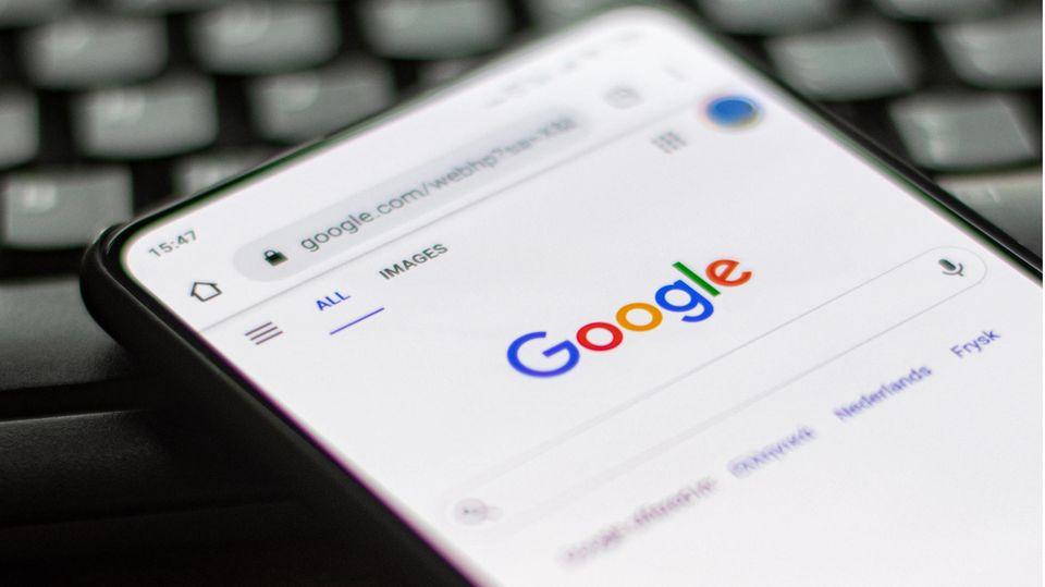 Google App auf einem Smartphone
