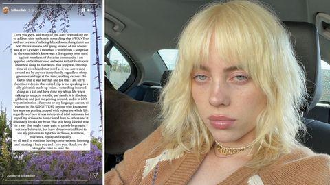 Billie Eilish entschuldigt sich nach Rassismus-Vorwürfen auf Instagram