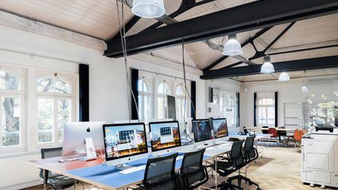 Arbeitsräume wie in einem Edel-Start-up