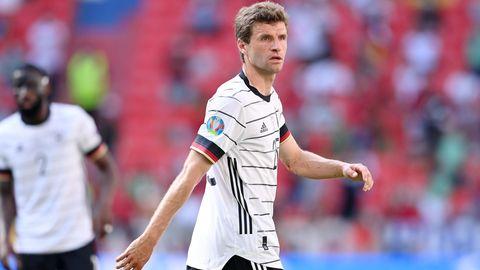 Thomas Müller während eines Fußballspiels