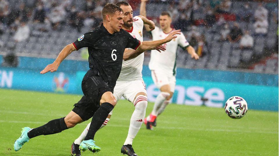Joshua Kimmich kann sich im EM-Spiel gegen Ungarn nicht durchsetzen