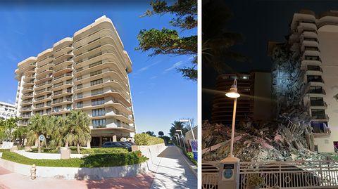 Mehrstöckiges Gebäude nahe Miami Beach teilweise eingestürzt