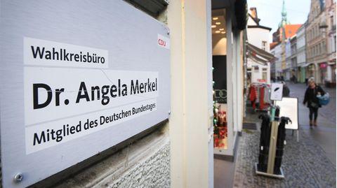 Das Gebäude in Stralsund, in dem sich dasWahlkreisbürovon Angela Merkel befindet