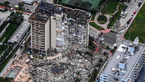 Fast 100 Menschen nach Hochhauseinsturz an Küste von Miami vermisst