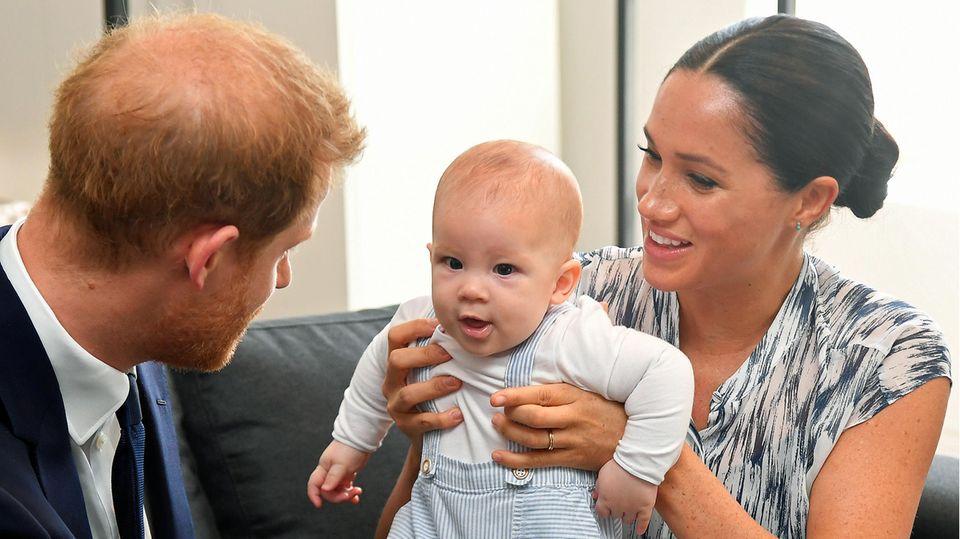 Prinz Harry und Meghan Markle mit ihrem Sohn Archie