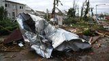 Im kleinen Moravská Nová Ves hat der Tornado heftige Schäden angerichtet