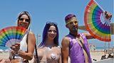 """Im Zeichen des Regenbogens: Die Parade sei ein """"Zeichen der Gleichberechtigung, Akzeptanz, Menschen- und Bürgerrechte"""", sagteRon Huldai, der Bürgermeister vonTelAviv."""