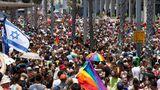 Bei der letztenPride-Parade inTelAviv im Jahre 2019 kamen noch 250.000 Menschen zusammen