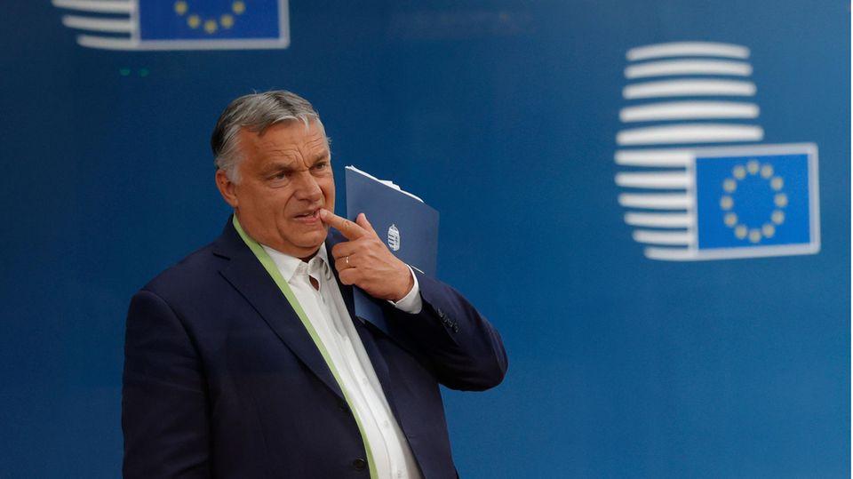 Viktor Orban, Ministerpräsident von Ungarn, verlässt nach dem Gipfel der EU-Staats- und Regierungschefs das Europagebäude