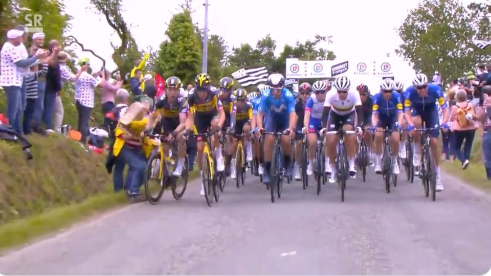 Sturz bei Tour de France