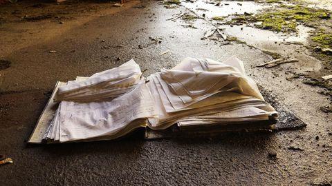 Ein Brite fand einen durchnässten Stapel Papiere (Symbolbild)