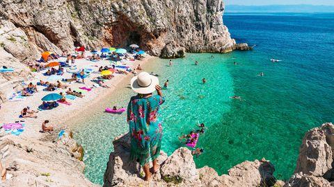 Badebucht bei Brsec in Kroatien