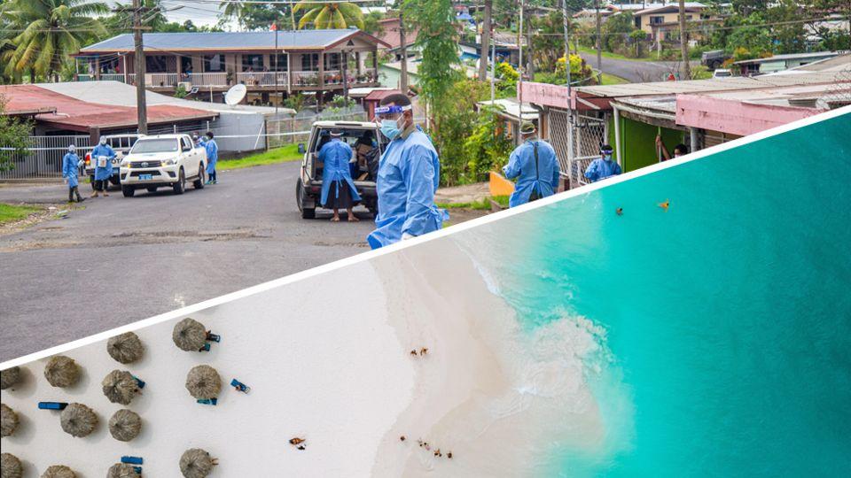 Corona-Welle erreicht Fidschi: Covid-Bedrohung im Paradies