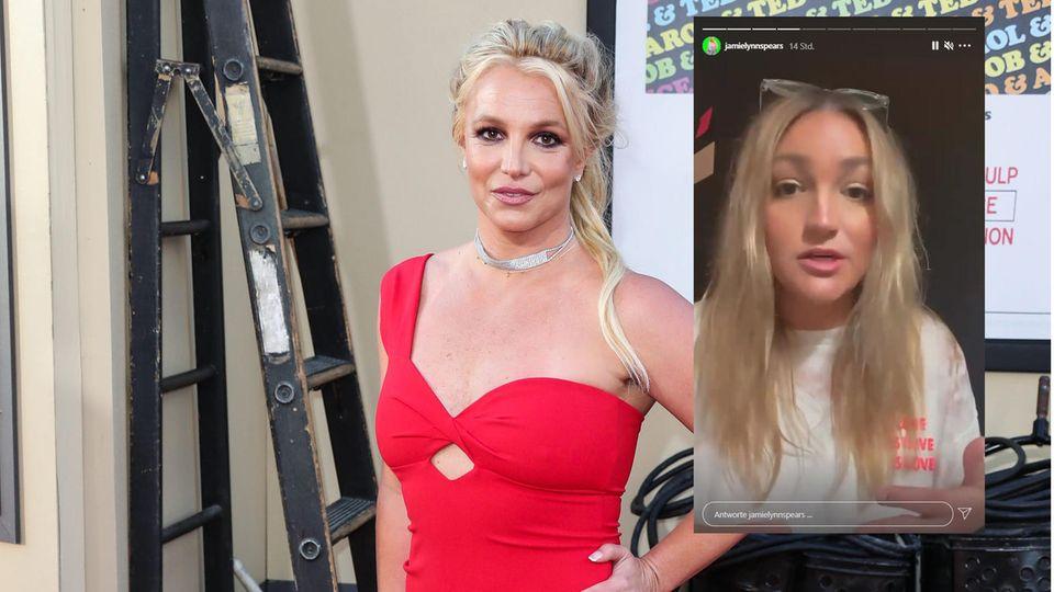 Jamie Lynn Spears und ihre Schwester Britney auf einen Foto