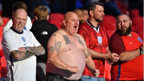 Englische Fans beim EM-Spiel gegen die Tschechien