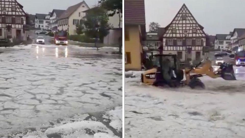 Augenzeugen-Videos zeigen heftige Unwetter-Folgen
