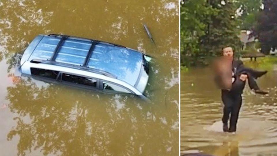 Dramatische Rettung: 82-jährige Autofahrerin aus sinkendem Auto befreit